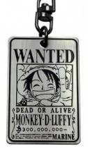 One Piece Ruffy Wanted Keychain