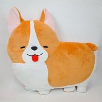AMUSE Ichinino Corgie Mecha Deka Diecut Plush Cushion - Ichi Yorokobi