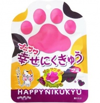 Senjaku Puni-Fuwa Shiawase Nikukyu Gummy Grape
