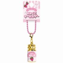 CRUX Ichigo Milk Bottle Brass Keychain