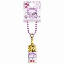 CRUX Cherry Milk Bottle Brass Keychain