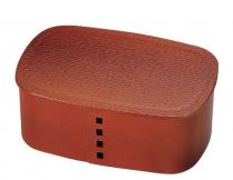 HAKOYA Tatsumiya Nuri Wappa Bento box Wooden Red Brown