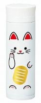 HAKOYA Tatsumiya Stainless Maneki Neko Mug Bottle White (300ml)