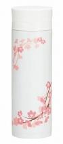 HAKOYA Tatsumiya Stainless Sakura Mug Bottle White (300ml)