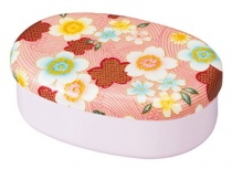 HAKOYA Tatsumiya Cloth-Covered Koban Bento Box Kakasura Pink