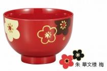 HAKOYA Tatsumiya Miso-Schale Plum Blossom Red