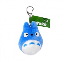 Totoro Blue Totoro Funwari Plush Keychain