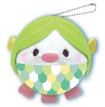 Yamani Squeeze X Marshmallow Plush Mugyu-Maro Toys Amabie Green