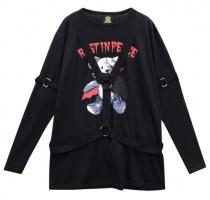 LISTEN FLAVOR Vampire Bear Harness Cutsew F Black