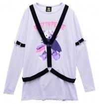LISTEN FLAVOR Vampire Bear Harness Cutsew F Lavender