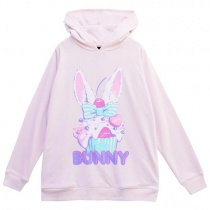 LISTEN FLAVOR Bunny Cup Cake Parka F Baby Pink