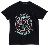 LISTEN FLAVOR Lunatic Cat Neon T-Shirt