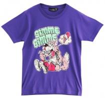 LISTEN FLAVOR Wolf Monster T-Shirt Purple