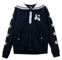 LISTEN FLAVOR Moon Light Sailor Jacket Black