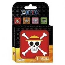 One Piece Skulls Coaster Set